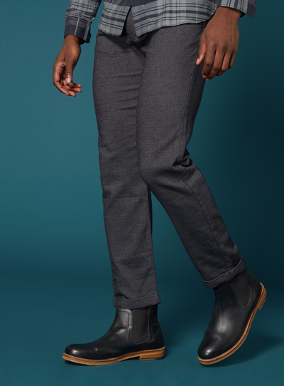 Premium Charcoal Pleat Tapered Chino Trousers