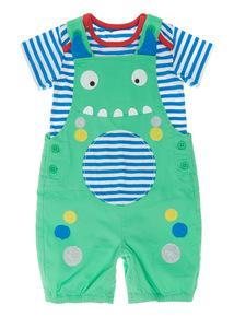 Multicoloured Novelty Bibshort And Bodysuit (0 - 24 months)