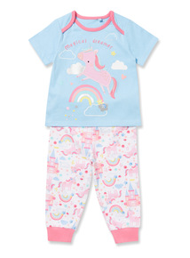 Multicoloured Unicorn Pyjamas (0-24 months)