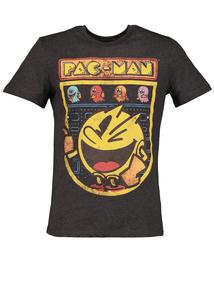 Pac-Man Charcoal Grey Crew Neck T-Shirt