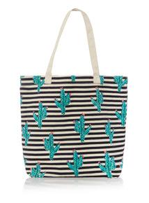 Multicoloured Cactus Canvas Bag