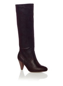 Brown PU Long Boots