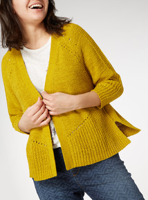 Lime Cropped Tape Cardigan