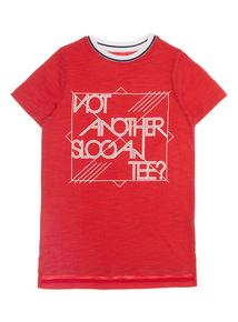 Boys Red Not Another Slogan Tee (3 - 12 years)