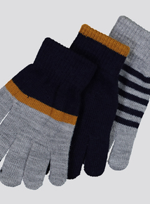 Multicoloured Magic Touch Screen Gloves (One Size)