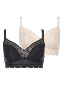 Lace Bralet 2 Pack