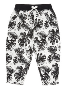 Black Hawaiian Hareem Trousers (9 months - 6 years)