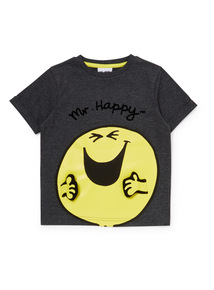Charcoal Mr. Happy T-Shirt (9 months-6 years)