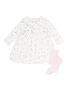 White Peter Rabbit Dress & Tights Set (0-12 months)