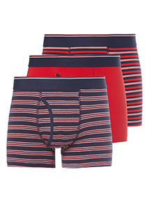 3 Pack Red Stripe Sold Trunks