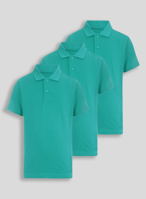 Unisex Jade Polo Tops 3 Pack