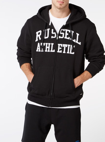 Online Exclusive Russell Athletic Black Zip Through