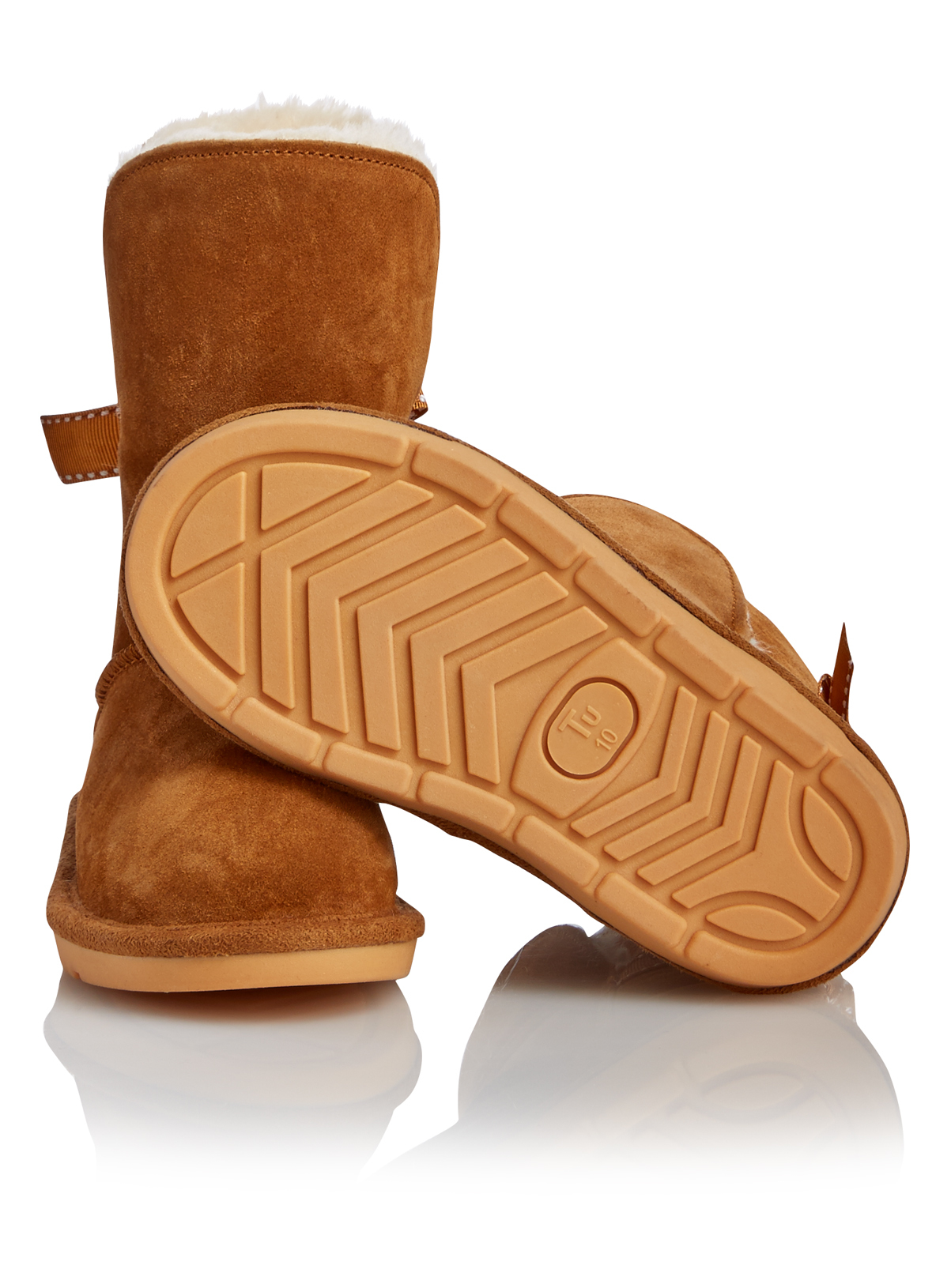All Girl's Clothing Girls Tan Fur Boots | Tu clothing