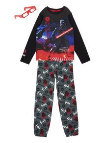 Kids Black Disney Star Wars Pyjamas With 3D Glasses