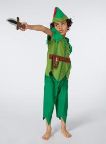 Boys Green Peter Pan Costume