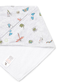 2 Pack Multicoloured Bug Hanky Bibs