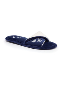 Navy Twist Slipper Mule