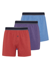 Multicoloured Jersey Boxers 3 Pack