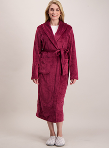Dark Pink Velour Dressing Gown