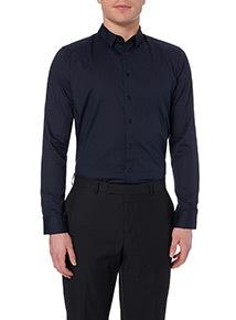 Navy Slim Stretch Shirt