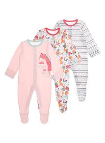 Sunset Safari Sleepsuits 3 Pack (0 - 24 months)