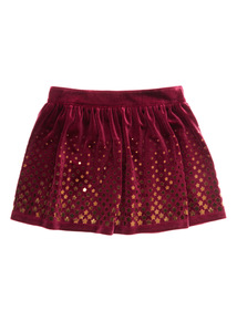 Red Gold Star Print Skirt (9months - 6years)