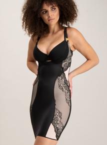 Black Secret Shaping Lace Slip Dress
