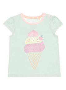 Light Green Ice Cream Patterned Tee (0 - 24 months)