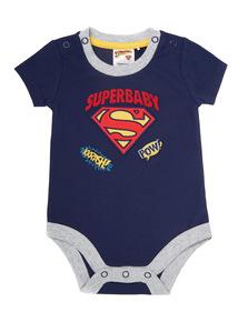 Blue Superbaby Bodysuit (0-12 months)