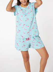 Blue Flamingo Pyjama Set
