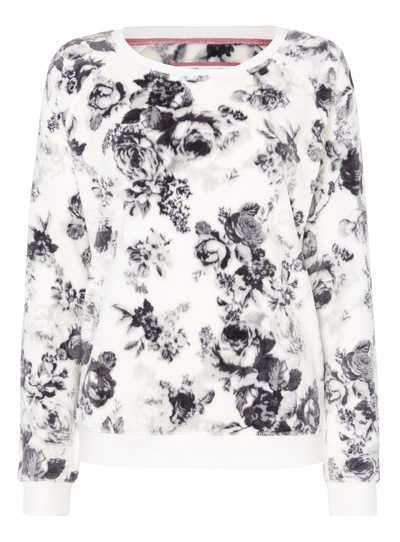 Floral Fluffy Pyjama Top