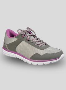 fa71b8b59c1 Grey   Purple Panelled Basic Trainers
