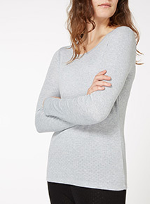 Pointelle Thermal Long Sleeve Tee