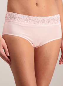 Multicoloured Lace Midi Knickers 5 Pack