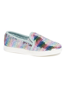 Rainbow Sequin Skater Shoes