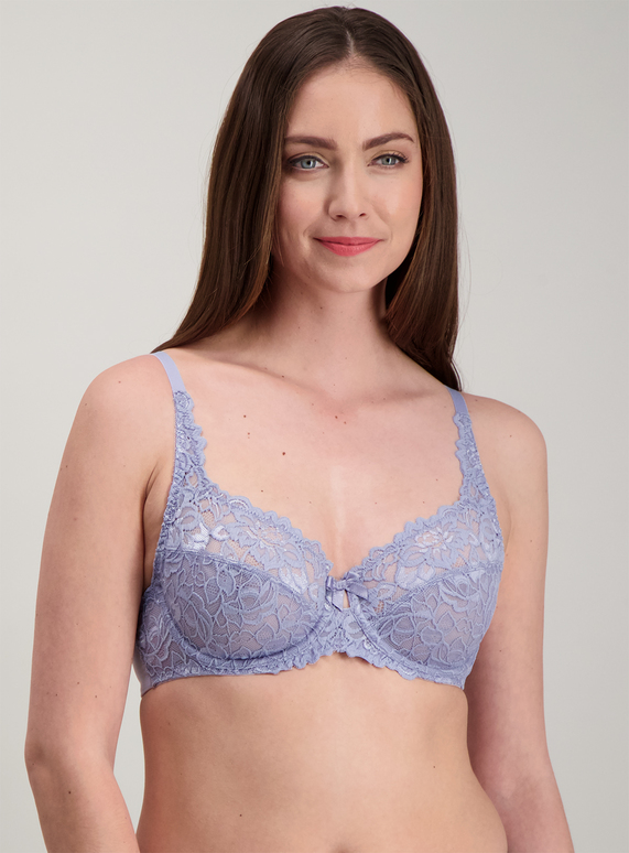 34bd0bff28b Womens Grey Lace Full Cup Bra Underwired | Tu clothing