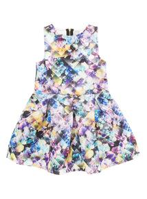 Multicoloured Scuba Dress (3 - 12 years)