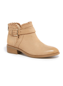 Leather Whipstitch Boots
