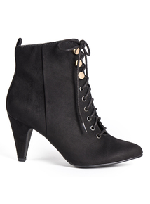 Sole Comfort Black Victorian Style Ankle Boot