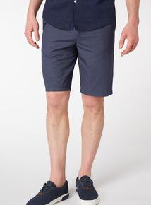 Navy Spot Chino Shorts