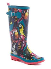 Multicoloured Parrot Print Wellies