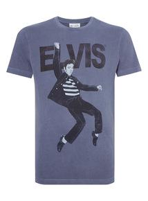 Navy Elvis Tee