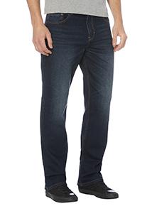 Blue Bootcut Mid Wash Denim Jeans