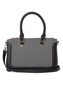 Black Grid Pattern Bag