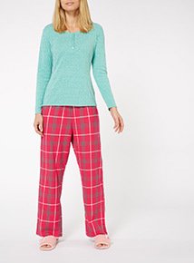 Henley Check Pyjama Set