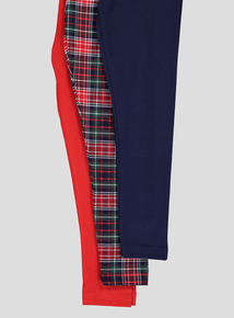 Multicoloured Tartan Legging Set 3 Pack (3 - 14 years)