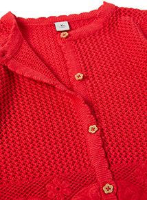 Red Crochet Cardigan (9 months - 6 years)