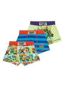 Multicoloured Ninja Turtles Trunks 3 Pack