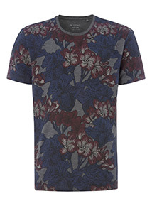 Multicoloured Floral Print T-Shirt