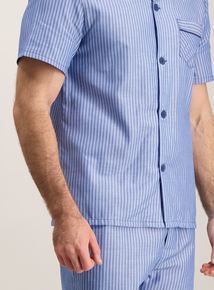 Blue Striped Traditional Pyjamas